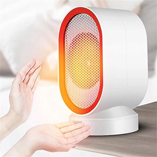 HUILING Mini calefactor de cerámica, portátil, ventilador eléctrico de trabajo, ventilador de escritorio, calefactor individual, para interior, oficina, calefactor de invierno (color: rojo)