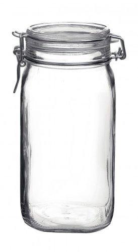 Bormioli Fido # 203437# tarros de Cristal con Cierre de Clip, Original, 1,5L