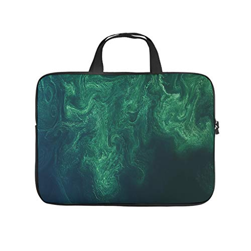 Green Sea Abstract Surface View Abstract Laptop Bag Dustproof Laptop Briefcase Design Notebook Bag for University Work Business