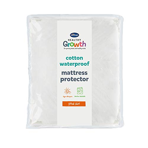 Silentnight Healthy Growth Mattress Protector, Double, White, 135 x 190 x 30cm