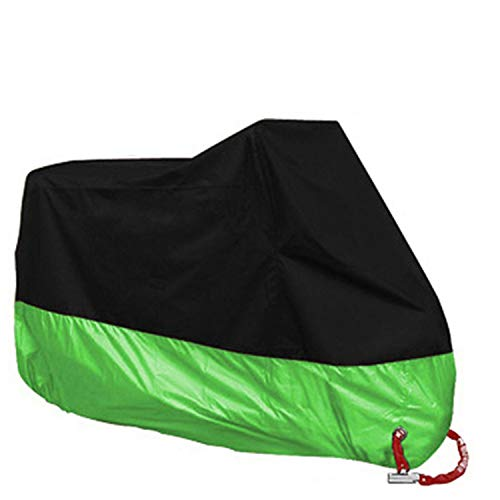 Small Lake Waterproof Scooter Bike Motorcycle Rain Dust Cover Protect All Silver Sun Protection Bicycle Cover-Green-4XL