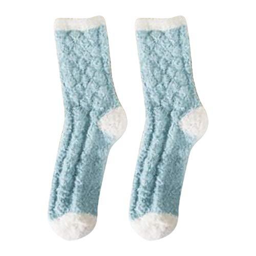 NEW! Somerl kuschelsocken strümpfe Fashion Home Soft Bed Floor Warme Winterschlafsocken(Blue,Free)