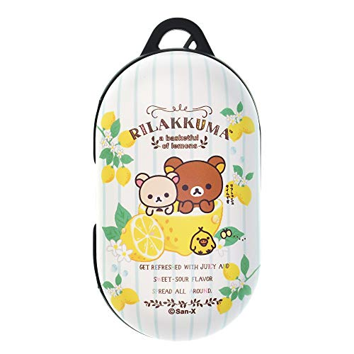 Rilakkuma Compatible with Galaxy Buds Case Galaxy Buds Plus (Buds+) Case Protective Hard PC Shell Cover - Lemon