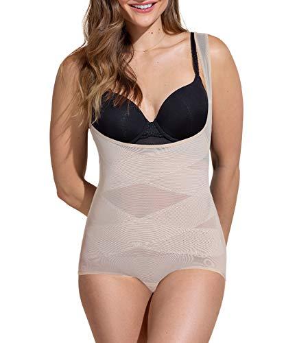 COMFREE Reductor Bodies Moldeadores Braguitas Moldeadoras Completas para Mujer Body Shaper Abdomen Adelgazante Cómodo y Ligero Beige L