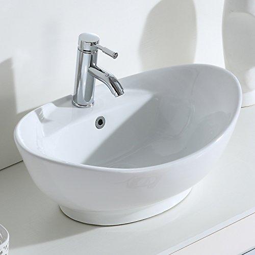 Eridanus, Serie Lottie, Keramik Waschschale, Oval Waschbecken, Design Waschschüssel, 59 cm breit