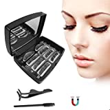 Magnetic eyelashes - 3D Magnetic False Eyelashes, Reusable Artificial Magnetic Eyelashes with Stainless Steel...