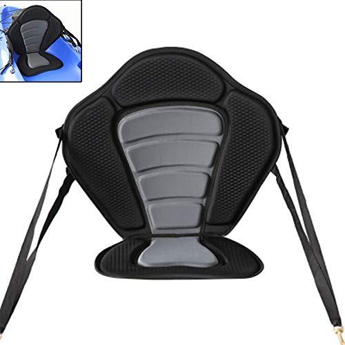 N / A Asiento de Kayak de Lujo Respaldo para Barco en la Parte Superior, Ajustable portátil, Transpirable, cómodo Respaldo de Secado rápido, para Exterior Cojín Universal para Sentarse