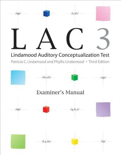 Pro-Ed Sale price Lindamood Auditory Conceptualization store Test Complete LAC-3