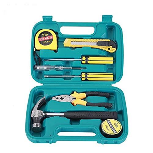 Toto Department Store Pequeño juego de 9 piezas de herramientas de emergencia Conjunto de herramientas de hardware de martillo de seguridad Fit para automóvil Caja de herramientas Caja de herramientas