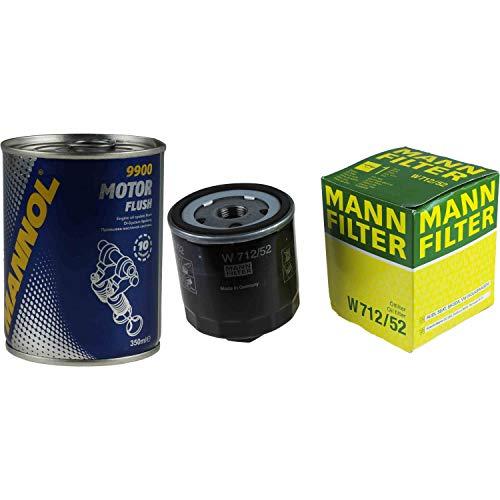 Original MANN Ölfilter W 712/52 + SCT Motor Flush Motorspülung