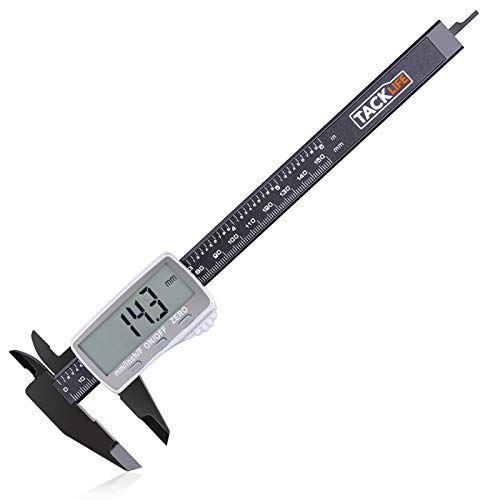 TACKLIFE Digital Caliper 150mm with Extra-Large LCD Display, Inch/Fractions/Millimeter Conversion for Small DIY and Homework, Coin Battery included - DC01