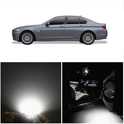 WLJH 2010-2016 F10 5 Série 550i 535i 528i M5 LED Eclairage intérieur Accessoires Kit de remplacement (12pcs, blanc)