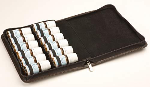 Homöopathie Taschenapotheke für Schüssler-Salze mit 12 Schlaufen braun (ohne Arzneimittel)