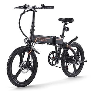41eXqL32mIL. SS300 NIUBILITY 20 pollici pieghevole bicicletta elettrica 42 V 10,4 Ah assistenza ciclomotore e bici gamma 40-50 km per il pendolarismo
