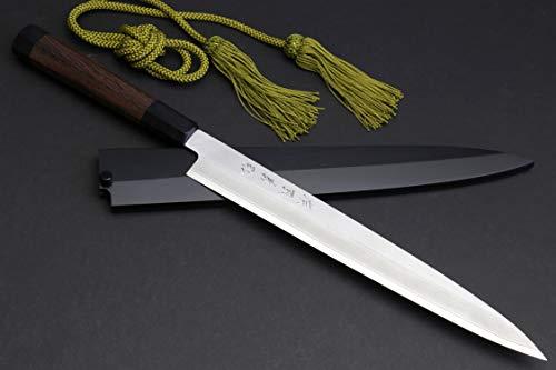 Yoshihiro VGYA240SH Hongasumi VG-10 Stainless Steel Yanagi Sushi Sashimi Japanese Knife, 9.5'' (240mm), Rosewood Handle