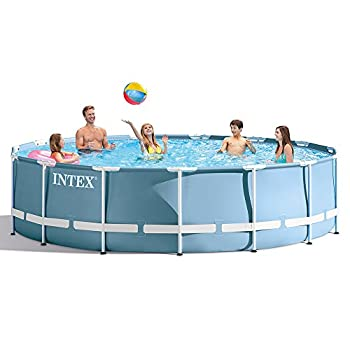 INTEX 28733EHIntex 15ft X 42in Prism Frame Pool Set with Filter Pump Ladder Ground Cloth & Pool Cover