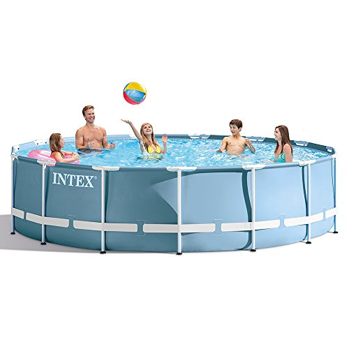 INTEX 28733EHIntex 15ft X 42in Prism Frame Pool Set with Filter Pump, Ladder, Ground Cloth & Pool Cover