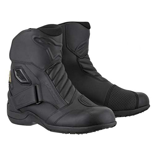 Alpinestars New Land Gore-Tex Herren Motorradstiefel Street Boots (Schwarz, EU 40)