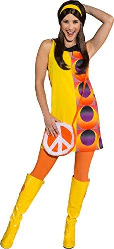 Karneval-Klamotten Disco Kostüm für Damen 70er Disco Kleid 70er Jahre Party Kleid Retro Damen-kostüm