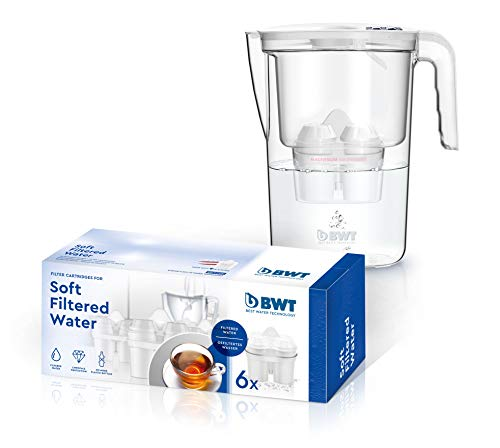 BWT BWT Soft Vida Manuelle Wasserfilterkanne + 6 Softfilter, 2,6 l, Weiß, 800 g
