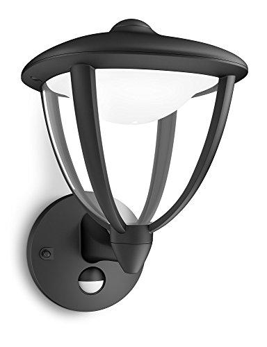 Philips 154793016 Robin Applique Murale Extérieur avec Détecteur de Mouvement LED Intégrée Noir