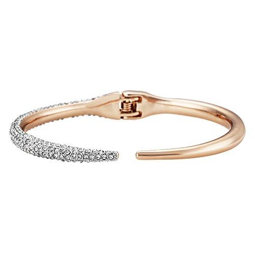 Buckley London Damen Armschmuck Messing rosévergoldet mit Kristallen Messing Glänzend Kristall rosa 430060069