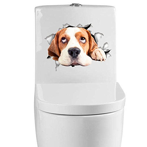 -Homeworld- Großer Hunde-Aufkleber mit 3D Effekt, 21x15cm, Perfekt für WC Toilettendeckel, Den Kühlschrank und Verschiedene Weiße Möbel. Tolles Geschenk für Hundeliebhaber! #19