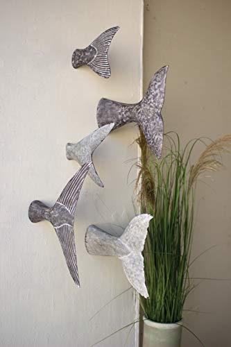 KALALOU Fish Tale Wall Sculptures, Set of 5, One Size, Raw Metal