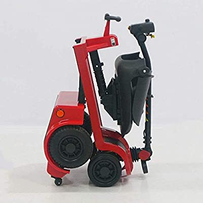 Deluxe Easy Folding Mobility Scooter-Electric Scooters for Adult Red