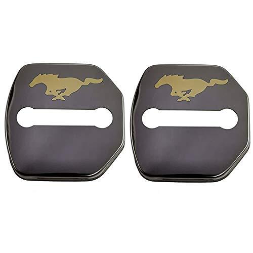 HDWY 4Pcs Car Styling Türschlossabdeckung, für Ford Mustang GT 2015-2020 Auto Protection Zubehör Door Lock Cover Edelstahl Korrosionsschutz