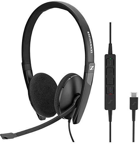 Sennheiser SC 160 USB-C Binaural Diadema Negro - Auriculares con micrófono (Media/Comunicación, Binaural, Diadema, Negro, Alámbrico, USB Tipo C)
