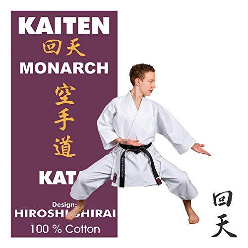 Kaiten Monarch KATA Karateanzug mit Elastikbund-Hose, 14 oz Karate Gi (180)