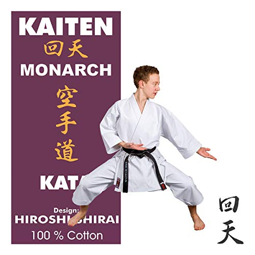 Kaiten Monarch KATA Karateanzug mit Elastikbund-Hose, 14 oz Karate Gi (175)