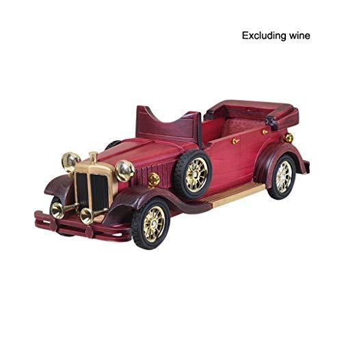 Queen Boutiques Oldtimer wijnrek van hout handgemaakt vintage automodel wijnrek boerderij keuken decoratie en antieke bar decoraties geschenk ornamenten