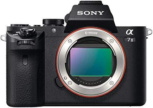 Sony Alpha 7 II - Cámara evil de fotograma completo (24.3 Megapíxeles, enfoque automático híbrido rápido, estabilización de imagen óptica de 5 ejes, grabación de vídeos en formato XAVC S)