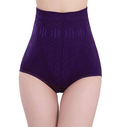 Feilongzaitianba Sexy Underwear Womens High Waist Body Shaper Briefs Slimming Seamless Panties A