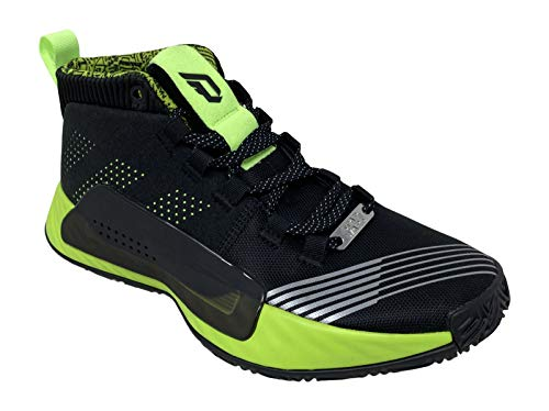 adidas Boy's Dame 5 Star Wars Lightsaber Green Basketball Shoes, Core Black/Signal Green, 4