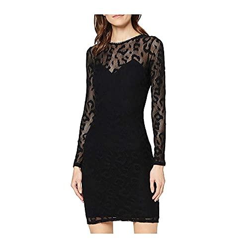 Guess Olivia Dress Vestido de cóctel, Negro, M para Mujer