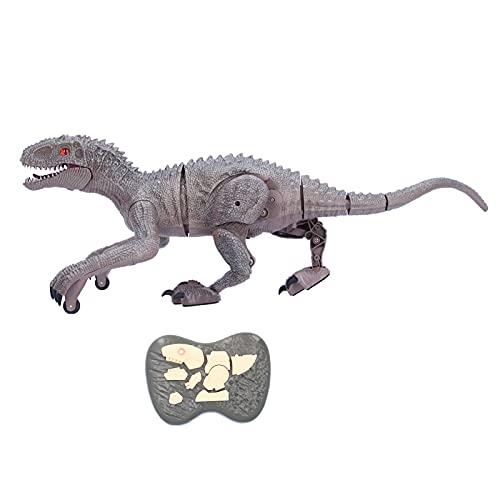 Yeelur RC Dinosaur Toys, 2 Modi Lustige elektronische RC-Toys mit 2,4 GHz Dinosaurierform mit LED-Lichtern für Kinder Weihnachten und Neujahr Geschenke für Freizeitspielzeug