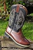 HKM 4526 Softy Cow Bottes de Cowboy Western en Cuir véritable Marron Taille 40