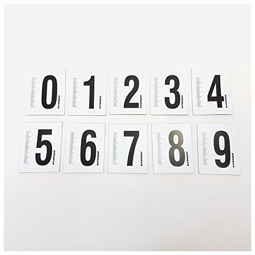 Dönges Ziffernsatz 0-9 magnetisch Kennzeichnungssatz Fotodokumentation 38x48 mm