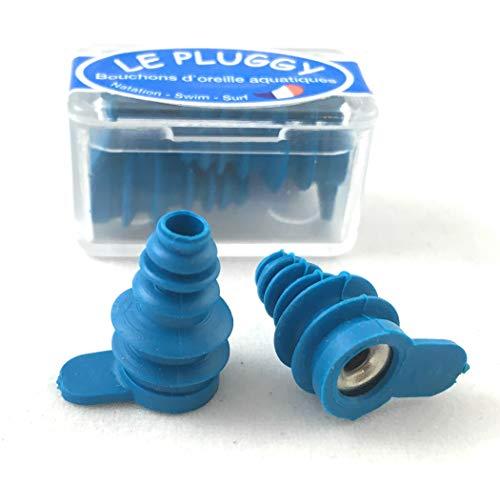 Auricular Plug Le Pluggy - Bouchons d'oreilles Souples, Ajustables et Réutilisables - Adultes ET Enfants DÈS 7 Ans – Fabriqués en France - Piscine - MER - Bain - Natation - Surf & ACTIVITÉS Nautiques