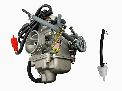 DEF Repuesto de carburador PD24J de 24 mm para GY6 de 4 tiempos de 125 cc 150 cc ATV Go Kart Scooter