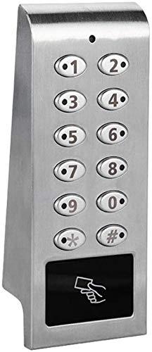 Cerradura Puerta, S202MF Contraseña Digital Tarjeta Llave mecánica Cerradura Puerta Inteligente, Cerradura Puerta Inteligente con Cerradura Oculta Seguridad, para el hogar, la Oficina, el Hotel, los