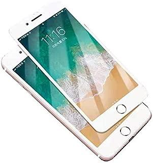 iphone 8Plus/7Plus/6Plus ガラスフィルム L&I 強化ガラス 超薄型 液晶保護 UVカット アンチグレア 高感度タッチ タブレット 透明 フィルム 貼り付け簡単 指紋防止 5D Touch 全面保護 透過率99.9% 硬度10H 耐衝撃 (iphone 8Plus, ホワイト)