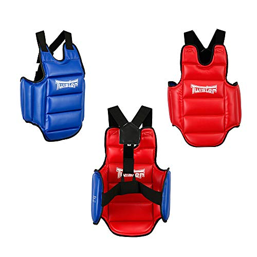 Twister Reversible(Blue/RED) Chest Guard Protector for Boxing Karate Taekwondo Muay Thai (Large)