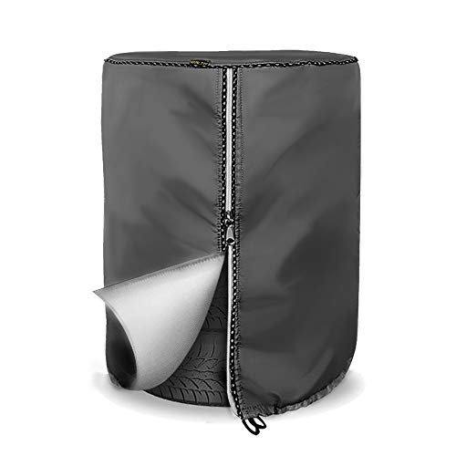 Mr.You Seasonal Tire Cover, Tire Storage Bag,Waterproof Dust-Proof (Fits up to 32' Tires, Gray)