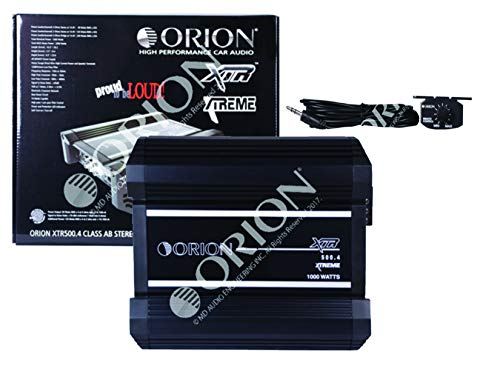 Orion XTR500.4 XTR Series 500 Watts RMS 4-Channel Bridgeable Xtreme Amp Class AB Stereo High Performance Car Amplifier