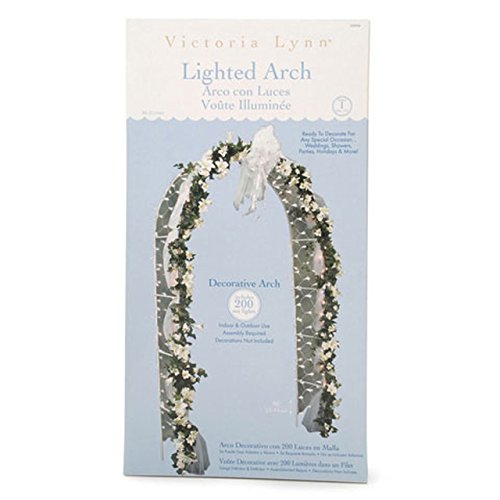 Darice Decorative 8 Foot Tall White Wedding Arch