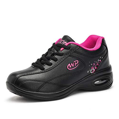 LXQLFY Zapatos Deportivos de Cuero para Mujer Zapatos para Mujer Zapatos para Correr Casuales Zapatos de Viaje Zapatos Antideslizantes de Fondo suave-37